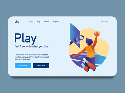 Basketball web design innovance simple design home page user interface ui ux web design play basketball
