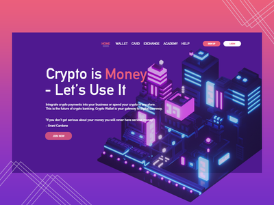 Crypto currency design vector illustration branding homepage ethereum bitcoin simple design user interface ui  ux web design design cryptocurrency crypto