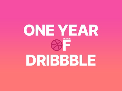 One year of Dribbble! designer july dribbble one year