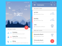 Mobile app design for an active lifestyle