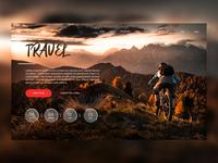 1Daily design 10/100 -travel web design