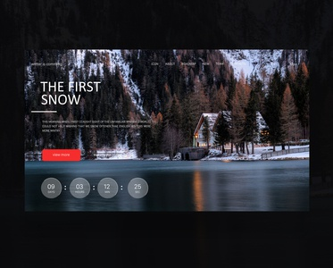 1Daily design 10/100 -the first snow  web design