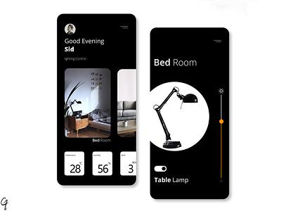 Smart home app shot blackandwhite appdesign app minimal uidesign uiux ux ui