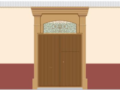 Portón colonial de 1900 en Huancayo