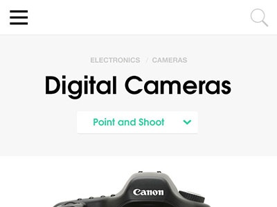 Mobile Canvas mobile menu header navigation