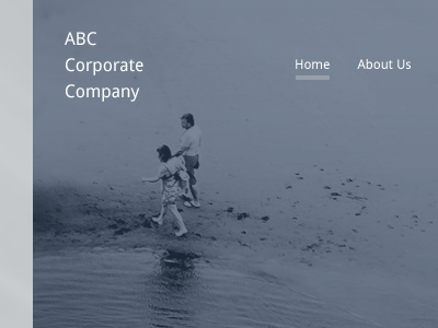 ABC Corporate link navigation underline photography header website corporate background