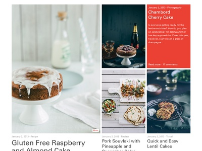 Featured Layout grid layout photography food featured post