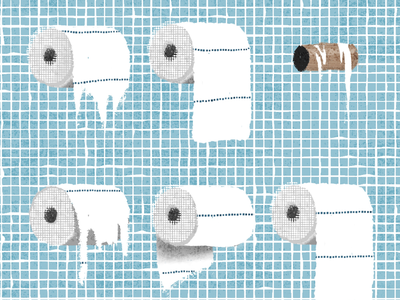 Toilet paper etiquette art toilet roll tissue procreate drawing illustration toilet paper toilet