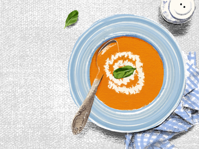 Pumpkin Soup digital illustration dish art food drawing sketch procreate illustration soup pumpkin