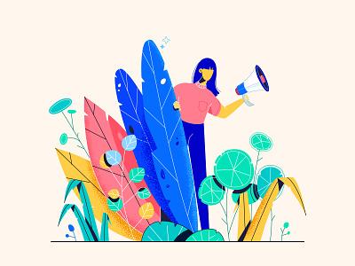 Blog Thumbnail Illustration vector 2d animation marketing plants character colors design illustration