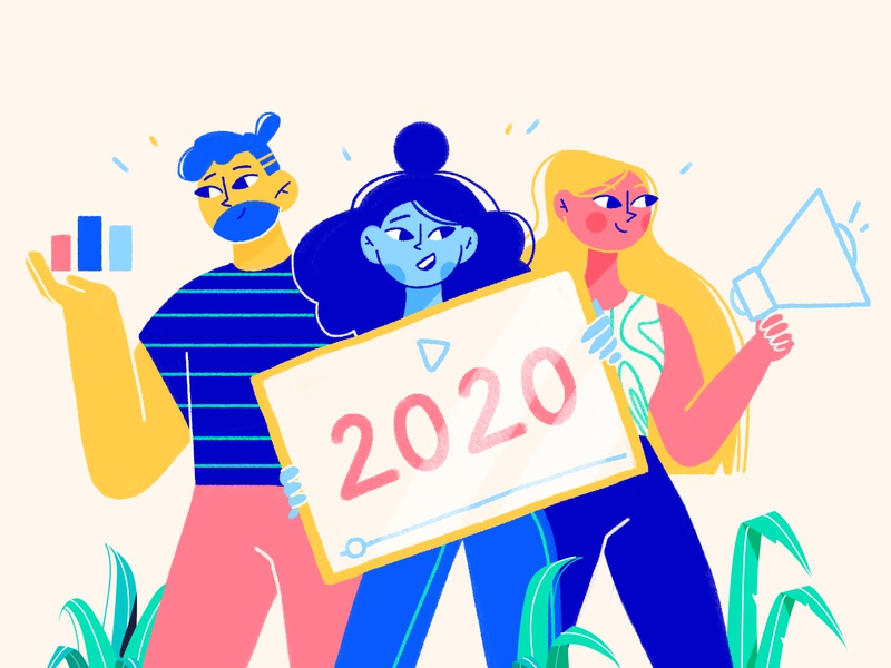 2020 marketing statistics illustration art plants characterdesign colors character design illustration