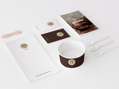 Gelateria Italia Branding ui design typography mockup logo design logo graphic design branding brand identity