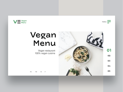 Vegan Menu Restaurant Landing Page website design mobile design mobile web design websites uidesign ux design ui design typography logo design logo graphic design branding brand identity