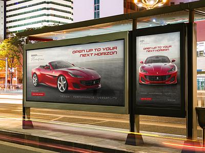 Concept Ferrari Landing Page Billboard Mock-up