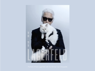 Lagerfeld With Choupette