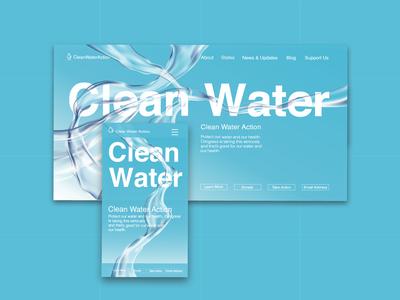 Clean Water Mobile And Desktop Homepage