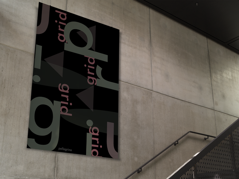 Grid Poster Mall Mock up