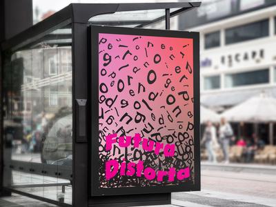 Futura Distorta Bus Stop Branding Mockup