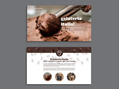 Gelateria Italia web pages icon ui design uxdesign ux ui brand identity branding typography graphic design design website webdesign