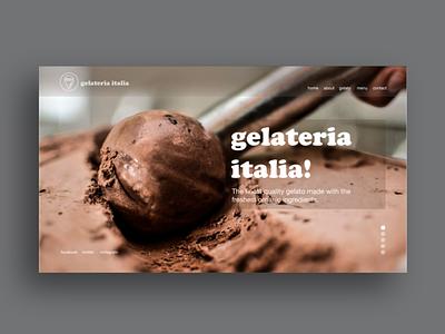 Gealateria Italia Homepage typography graphic design design brand identity logo design ux design ux uidesign ui ice cream shop website webdesign