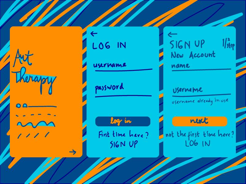 Art Therapy - UI Design mobileapp uidesign ui