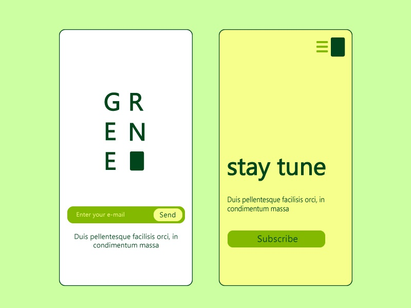 Green - UI Design uiillustration ui uidesign mobileapp