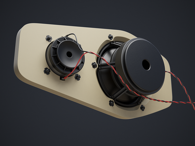 Speaker Wip 02 (3d) speaker aluminum mid woofer tweeter 3d cables