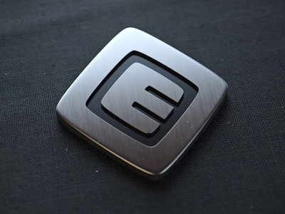 Speaker Wip 04 (3d) 3d emblem stainless black fabric logo duust bokeh scratches
