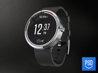Moto 360 (3d) moto 360 template mockup watch android gear 3d photoshop cinema4d vray render