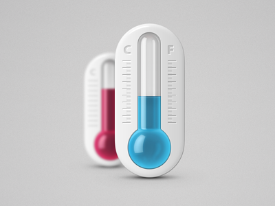 Thermometer thermometer photoshop icon blue pink celsius farenheit