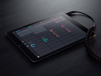 Auxy  auxy ipad render 3d music beats studio.