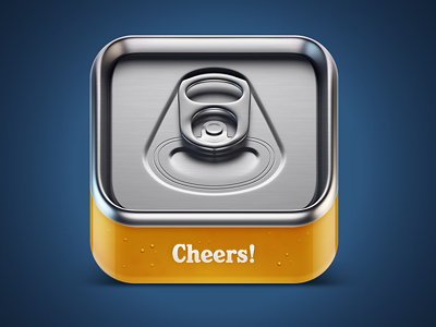 Cheers beer IOS icon beer icon iphone ios cheers yellow metal blue glass