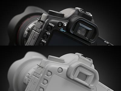 Canon 5d 2017 (3d) cinema4d vray 3d camera 5d canon