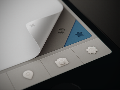 Qiwy iOS/iPhone app curl test fold iphone star icons fake camera ui settings curl ios blue render paper phone 3d refresh close glyph arrow glyphs icon apple sweden