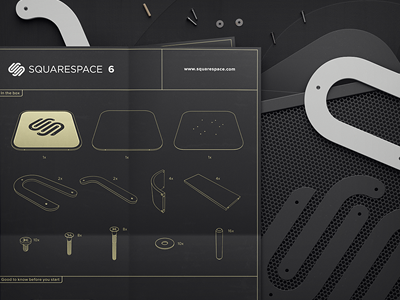 Squarespace 6 Out of the box (Not entering competition)  squarespace6 squarespace comp blueprint illustration wallpaper wood sweden black 3d cgi
