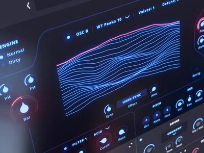 Sub7 Wavetable oscillator knobs animation audio wavetable synth