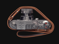 Leica IIIf (3d) metal leather visualization c4d vray 3d camera leica