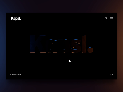 Kapsl. logo thing light interactive logo