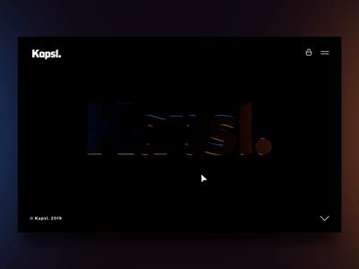 Kapsl. logo thing light interactive logo