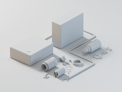 Kapsl. in pieces (3d) c4d cinema4d packaging light vray render 3d