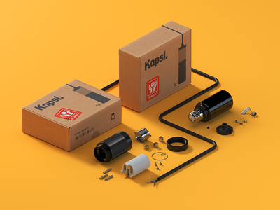 Kapsl. in pieces (3d) c4d cinema4d packaging light vray render 3d