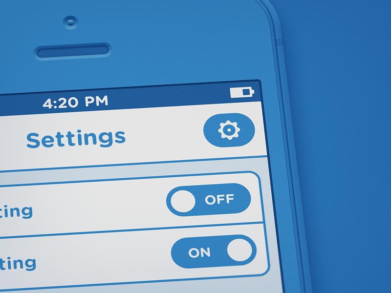 Blaubarry iPhone Blueprint  wireframe blueprint iphone template kit ui mockup blue retina