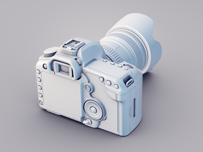 Canon 5d Clay render for case studie canon 5d case studie 2013 render 3d camera clay cinema4d