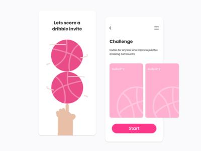 Dribbble invites! dribbble best shot dribbble invite community web ux ui mobile invite interface illustration hello flat dribbble app design concept aplication app