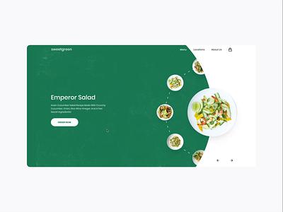 Sweetgreen concept smartanimate figma web ui salad healthy food simple slider carrousel