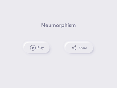 Neumorphism button animation motion icon ux ui design