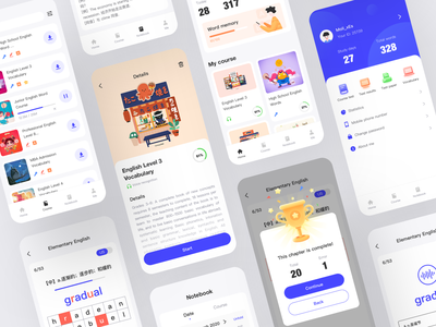 Educational applications app icon illustration ux ui design