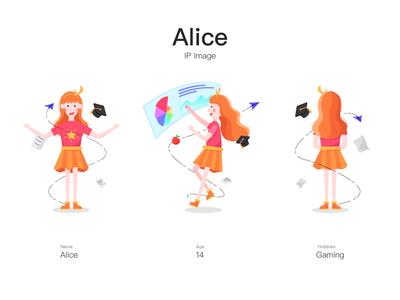 IP Image: Alice girl branding illustration design