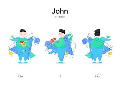 IP Image: John branding illustration design