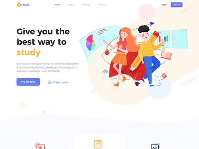 Concept Education Official Website education website motion icon illustration ui design